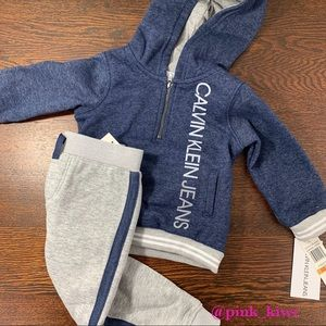 Calvin Klein Baby Boys 2 Piece Hoodie and Joggers